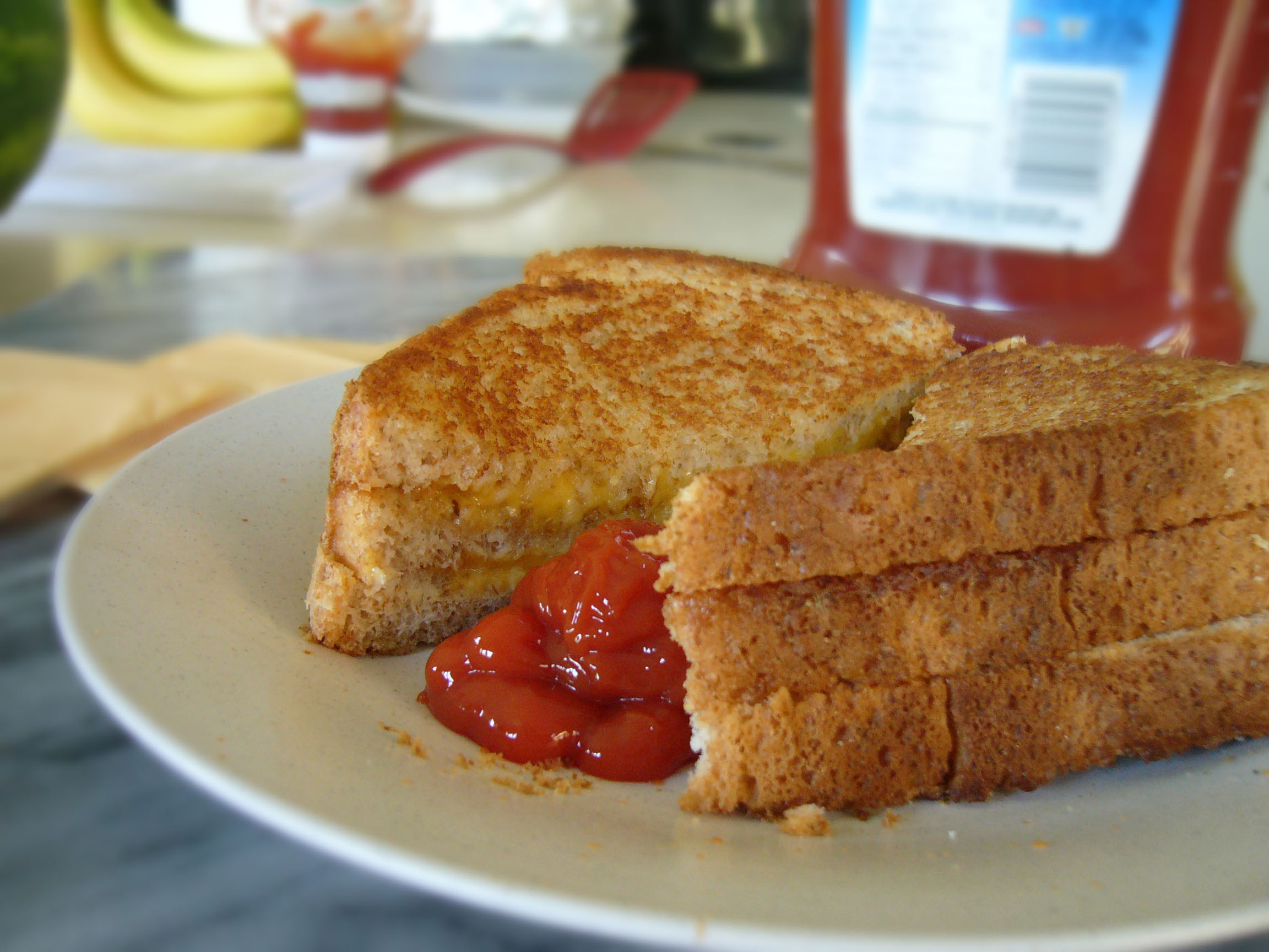 double grilled cheese